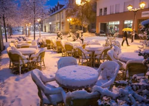 Погода зимой в Германии