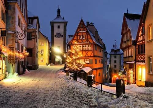 отдых зимой в европе в горах