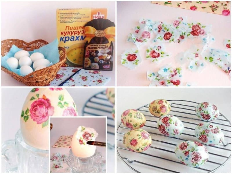 Как красить яйца на пасху салфетками: невероятная техника декупажа — красиво и просто
